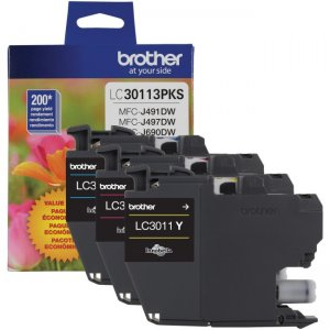 Brother Standard Yield 3 Pack of Color Ink (C/M/Y) LC30113PKS