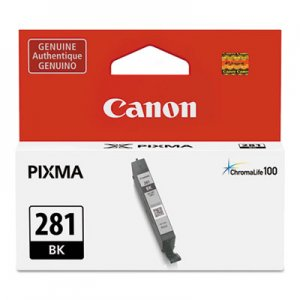 Canon (CLI-281) ChromaLife100+ Ink, 750 Page-Yield, Black CNM2091C001 2091C001