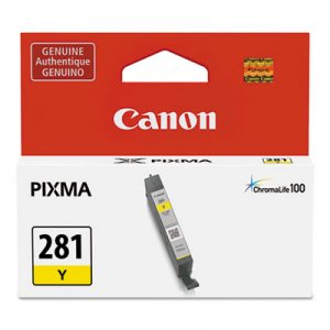 Canon (CLI-281) ChromaLife100+ Ink, 259 Page-Yield, Yellow CNM2090C001 2090C001