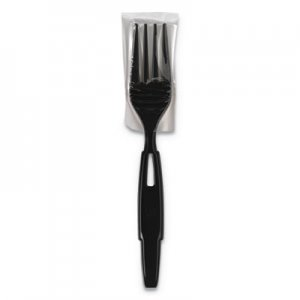 Dixie SmartStock Wrapped Heavy-Weight Cutlery Refill, Fork, Black, 960/CT DXESSWPF5 SSWPF5