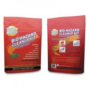 "Spill Magic Biohazard Spill CleanUp, 3/4"" x 6"" x 9"" FAOSMBIOHAZARD SM-BIOHAZARD"