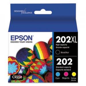 Epson T202XLBCS (202XL) Claria Ink, 550/165 Page-Yield, Cyan/Magenta/Yellow EPST202XLBCS T202XL-BCS