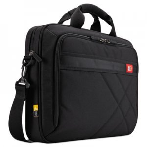 "Case Logic Diamond 17"" Laptop Briefcase, 17.3"" x 3.2"" x 12.5"", Black CLG3201434 3201434"