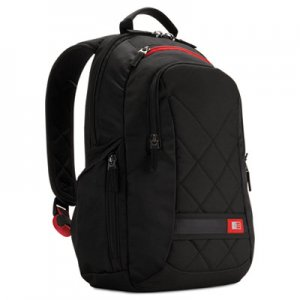 "Case Logic Diamond 14"" Backpack, 6.3"" x 13.4"" x 17.3"", Black CLG3201265 3201265"