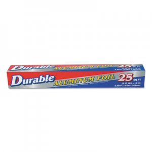 "Durable Packaging Standard Aluminum Foil Roll, 12"" x 25 ft, 35/Carton DPK9202535 9202535"