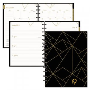 Blueline Gold Collection Weekly/Monthly Planner, 11 x 9 3/5, White and Black, 2019 REDCF3200302 CF32003.02