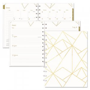 Blueline Gold Collection Weekly/Monthly Planner, 11 x 9 3/5, White and Gold, 2019 REDCF3200301 CF32003.01