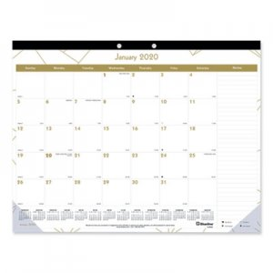 Blueline Gold Collection Monthly Desk Pad, 22 x 17, 2019 REDC199003 C199003