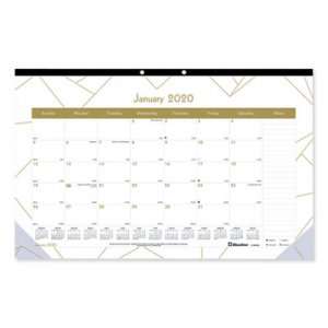 Blueline Gold Collection Monthly Desk Pad, 17 3/4 x 10 7/8, 2020 REDC199002 C199002