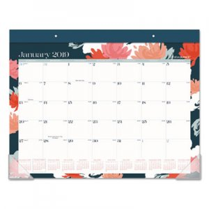At-A-Glance Badge Desk Pad, Floral, 17 3/4 x 22, 2019 AAGD1148B704 D1148B704