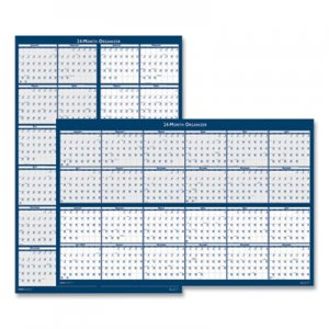 House of Doolittle Reversible/Erasable 2 Year Wall Calendar, 24 x 37, Blue, 2020-2021 HOD3964 3964