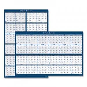 House of Doolittle Reversible/Erasable 2 Year Wall Calendar, 24 x 37, Blue, 2019 HOD3964 3964
