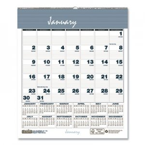 House of Doolittle Bar Harbor Wirebound Monthly Wall Calendar, 6 x 7, Blue, 2020 HOD330 330
