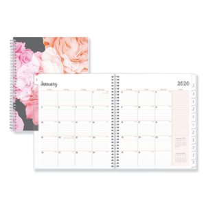 Blue Sky Joselyn Monthly Wirebound Planner, 8 x 10, Light Pink/Peach/Black, 2019 BLS110395 110395