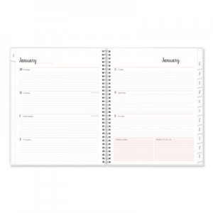 Blue Sky Joselyn Weekly/Monthly Wirebound Planner, 11 x 8 1/2, Light Pink/Peach/Black, 2020 BLS110394 110394