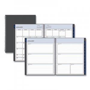 Blue Sky Passages Weekly/Monthly Wirebound Planner, 11 x 8 1/2, Charcoal, 2020 BLS100008 100008