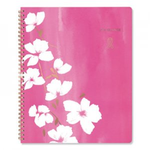 Cambridge Sorbet Weekly/Monthly Planner, 8 1/2 x 11, Pink/Rose Gold/White, 2019 AAG5151905 5151905