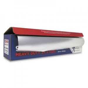 "Durable Packaging Heavy-Duty Aluminum Foil Roll, 24"" x 1,000 ft DPK92410 92410"