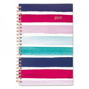 Cambridge Carousel Stripe Weekly/Monthly Planners, 4 7/8 x 8, Navy, Pink, 2019 AAG1112S200 1112S200