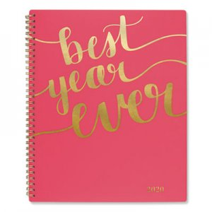 At-A-Glance Aspire Weekly/Monthly Planner, 8 1/2 x 11, Coral, 2019 AAG102290527 102290527
