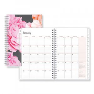 Blue Sky Joselyn Weekly/Monthly Wirebound Planner, 5 x 8, Light Pink/Peach/Black, 2019 BLS110396 110396