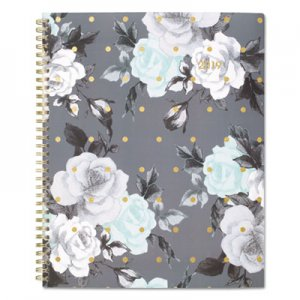 Cambridge Tea Time Weekly/Monthly Planner, 8 1/2 x 11, Gold/Gray/White, 2019 AAG1130905 1130905