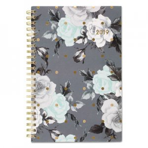 Cambridge Tea Time Weekly/Monthly Planner, 4 7/8 x 8, Gold/Gray/White, 2019 AAG1130200 1130200