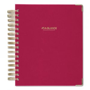 At-A-Glance Harmony Daily Hardcover Planner, 6 7/8 x 8 3/4, Berry, 2019 AAG609980659 609980659