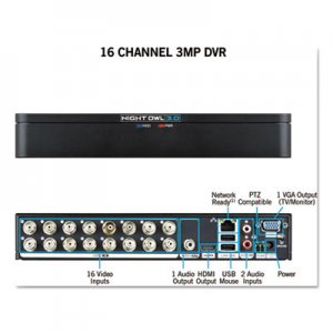 Night Owl 16 Channel Extreme HD 3MP DVR, 1080p Resolution NGTDVRX316 DVRX316