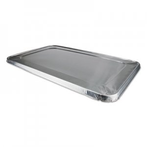 Durable Packaging Aluminum Steam Table Lids for Rolled Edge Half Size Pan, 50/Carton DPK8900CRL 8900CRL