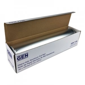 "GEN Heavy-Duty Aluminum Foil Roll, 18"" x 1,000 ft GEN7136 81810"
