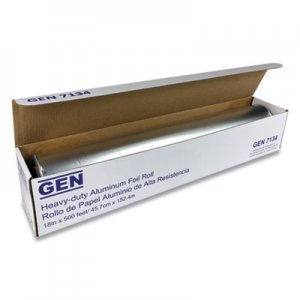 "GEN Heavy-Duty Aluminum Foil Roll, 18"" x 500 ft GEN7134 81805"