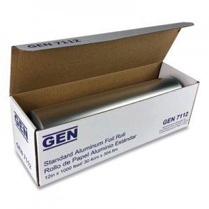 """GEN Standard Aluminum Foil Roll, 12"""" x 1,000 ft GEN7112 51210"""