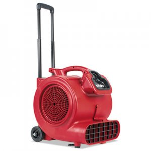Sanitaire DRY TIME Air Mover with Wheels and Handle, 1281 cfm, Red, 20 ft Cord EURSC6057A SC6057A