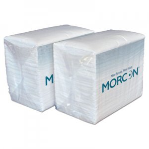 Morcon Paper Dinner Napkins, 2-Ply, White, 14 1/2 x 16 1/2, 3000/Carton MOR3466 3466