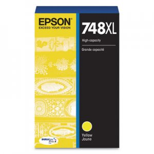 Epson T748XL420 (748XL) DURABrite Pro High-Yield Ink, 4000 Page-Yield, Yellow EPST748XL420 T748XL420