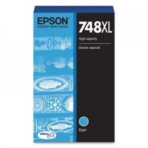 Epson T748XL220 (748XL) DURABrite Pro High-Yield Ink, 4000 Page-Yield, Cyan EPST748XL220 T748XL220