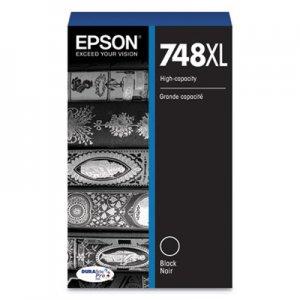 Epson T748XL120 (748XL) DURABrite Pro High-Yield Ink, 5000 Page-Yield, Black EPST748XL120 T748XL120