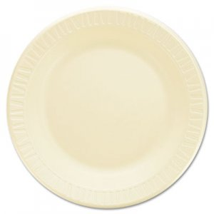 "Dart Quiet Classic Laminated Foam Dinnerware, Plate, 9"" dia, Honey, 500/Carton DCC9PHQR 9PHQR"