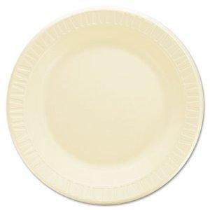 """Dart Quiet Classic Laminated Foam Dinnerware, Plate, 9"""" dia, Honey, 500/Carton DCC9PHQR 9PHQ"""