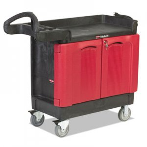 Rubbermaid Commercial TradeMaster Cart, 500-lb Capacity, Two-Shelf, 18.25w x 41.63d x 38.38h, Black RCP451288BLA FG451288BLA