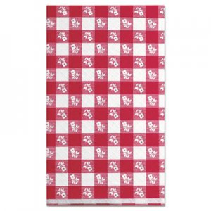 "Kurly Kate Paper Table Cover, 40"" x 300ft, Red Gingham LRP910105 LRP 91-0105"