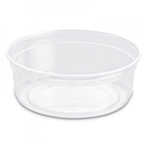 """SOLO Cup Company Bare Eco-Forward RPET Deli Containers, 4.6"""" dia, Clear, 10/CT SCCDM8R DM8R-0090"""