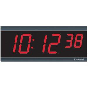 Pyramid TimeTrax Sync 2.5in x 6 Digit Red LED Wireless Digital Wall Clock 9D26BR
