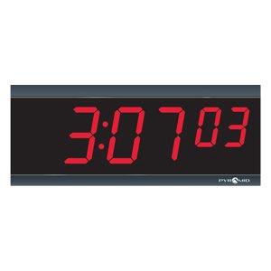 Pyramid TimeTrax Sync 2.5in x 6 Digit Red LED Power Over Ethernet Digital Wall Clock SED2R6LDRB