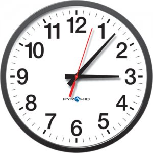 Pyramid TimeTrax Sync 13in Analog Clock - 12 Hour Face S9A3AAGBXB