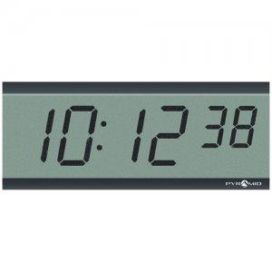 Pyramid TimeTrax Sync 2.5in x 6 Digit LCD Battery Operated Digital Wall Clock S9D3L6LBXB