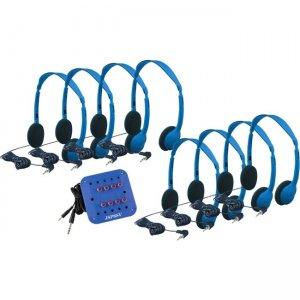 Hamilton Buhl Kids Listening Center with 8 Personal Headphones and Jackbox KHA2/K8SCV