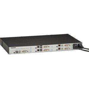 Black Box 6-Port DKM Modular Card Chasis with Redundant Power Option and Backplane ACXMODH6FPAC-R2