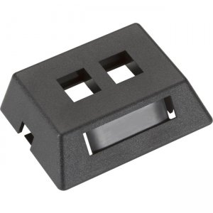 Black Box GigaStation2 Modular Furniture Wallplate - 2-Port, Black WPT459-MF